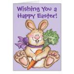 Conejito de pascua feliz - tarjeta de felicitación