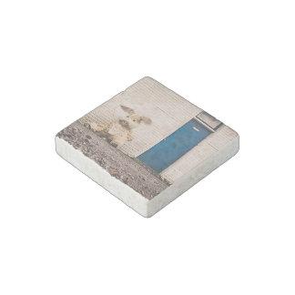 Conejito de pascua imán de piedra