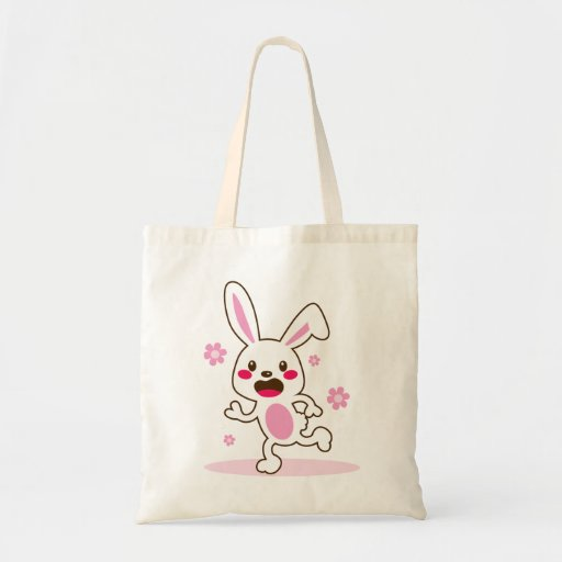 Conejito de pascua lindo bolsa de mano