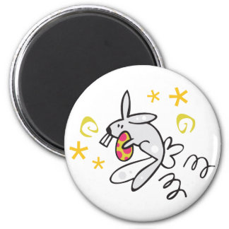 Conejito de pascua lindo con el huevo imanes de nevera