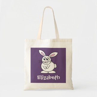 Conejito de pascua lindo del dibujo animado con no bolsas