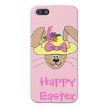 Conejito de pascua lindo del dibujo animado en un  iPhone 5 protectores