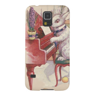 Conejito de pascua que juega el jacinto del piano carcasas para galaxy s5
