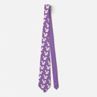Conejito de pascua que mira furtivamente corbata personalizada