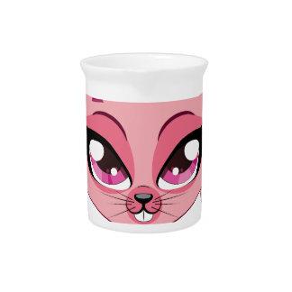 Conejito de pascua rosado jarrones