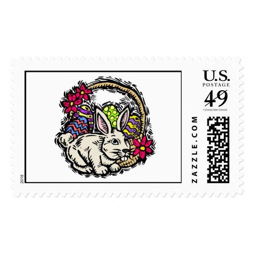 Conejito de pascua sello