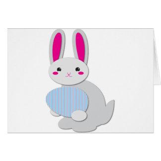 conejito de pascua supercute tarjeta de felicitación