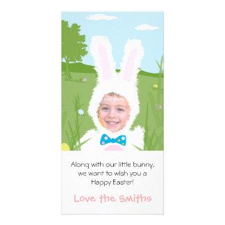 Conejito de pascua - tarjeta de la foto tarjetas personales