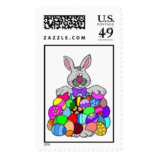 Conejito de pascua timbres postales