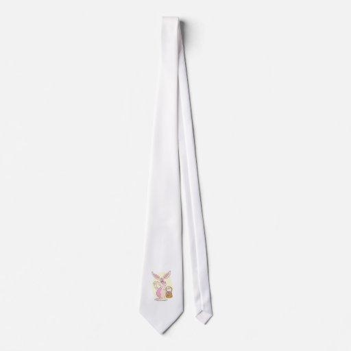 Conejito de pascua tonto corbata