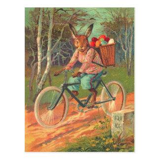 Conejito de pascua viejo de la moda postales