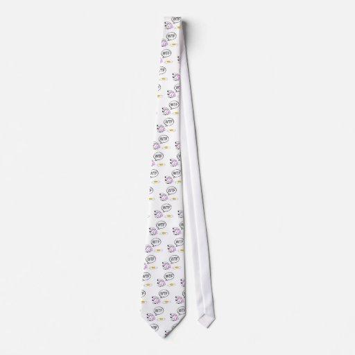 Conejito de pascua WTF Corbata Personalizada