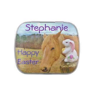 Conejito de pascua y caballo miniatura: personalic jarrones de caramelos