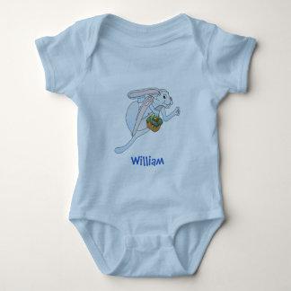 Conejito de pascua y cesta de funcionamiento de body para bebé