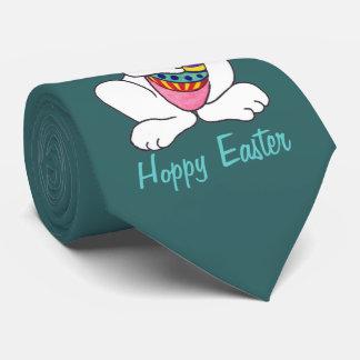 Conejito de pascua y huevo divertidos - lazo corbatas
