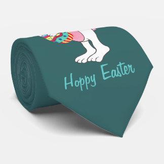 Conejito de pascua y huevo - lazo adaptable corbata personalizada