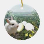 Conejito de pascua y huevos de Pascua Ornamentos Para Reyes Magos