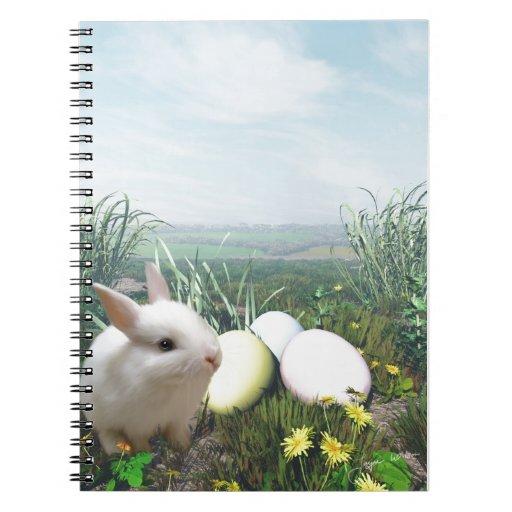 Conejito de pascua y huevos de Pascua Cuadernos