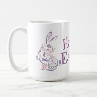 Conejito de pascua y huevos felices - 1 taza clásica