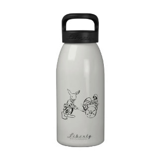 Conejito de pascua y polluelo del bebé botellas de agua reutilizables
