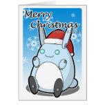Conejito de Robo de las Felices Navidad Tarjeta De Felicitación