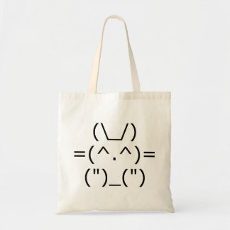 Conejito del ASCII (frente) Bolsa Tela Barata