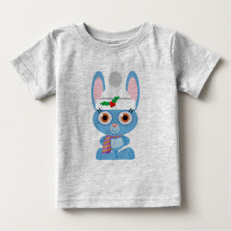 Conejito del azul del acebo playera de bebé