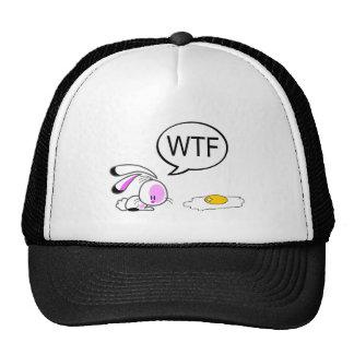 Conejito del chiste de Pascua Gorros Bordados