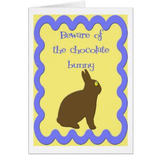 Conejito del chocolate (Pascua) Tarjeta De Felicitación