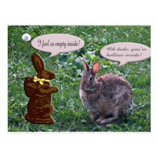 Conejito del chocolate postales