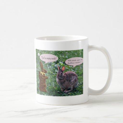 Conejito del chocolate taza de café