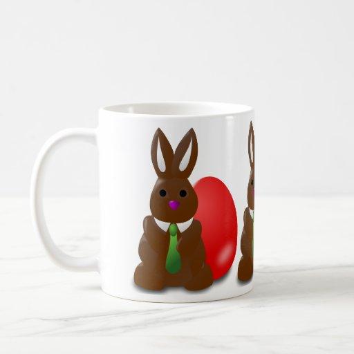 Conejito del chocolate tazas de café