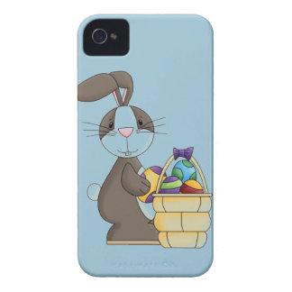 Conejito del conejo de rabo blanco de Brown con la Carcasa Para iPhone 4