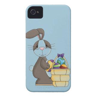 Conejito del conejo de rabo blanco de Brown con la Funda Para iPhone 4 De Case-Mate