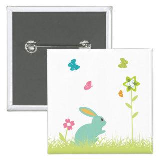 Conejito del del conejo y plantilla del personal pin