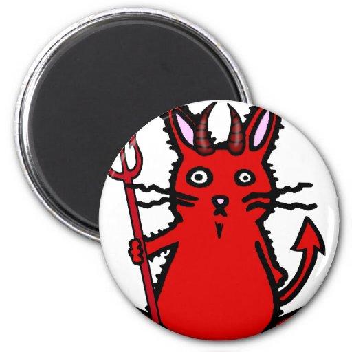 Conejito del diablo imanes de nevera