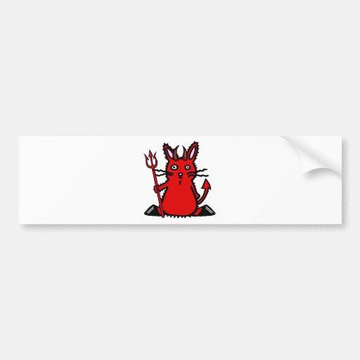 Conejito del diablo pegatina de parachoque