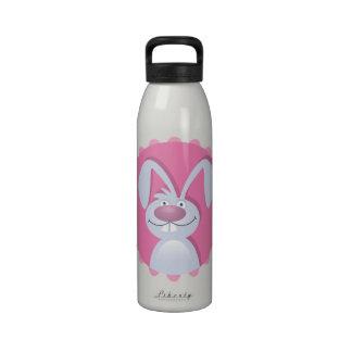 Conejito del diente de conejo botellas de agua reutilizables