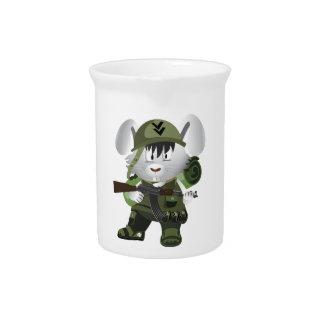 Conejito del ejército jarrón