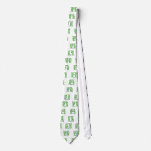 Conejito del esquí corbata personalizada