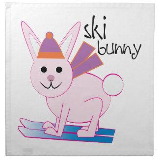 Conejito del esquí servilleta