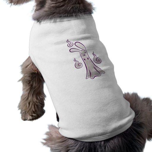 Conejito del fantasma camisetas mascota