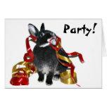 Conejito del fiesta tarjetas