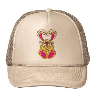 Conejito del leopardo gorras de camionero