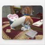 Conejito del libro alfombrilla de raton