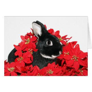 Conejito del navidad tarjeta de felicitación