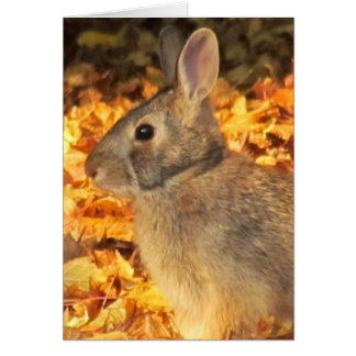 Conejito del otoño tarjeta de felicitación