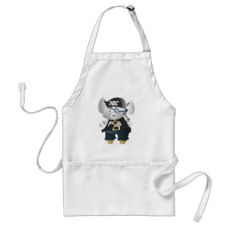 Conejito del pirata delantal