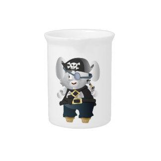 Conejito del pirata jarras de beber