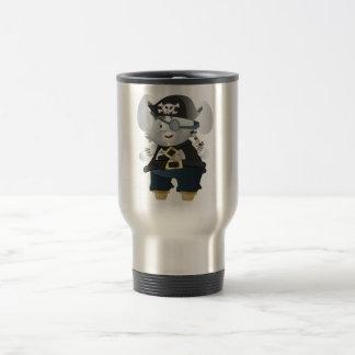 Conejito del pirata taza de viaje de acero inoxidable